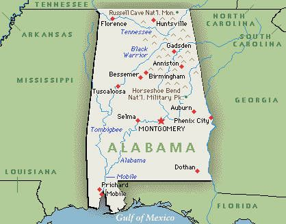 A Mobile Probate Judge Now Faces Conflicting Direct Orders From A - Alabama map usa