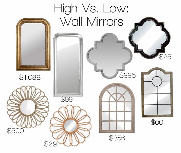 High Vs. Low: Wall Mirrors