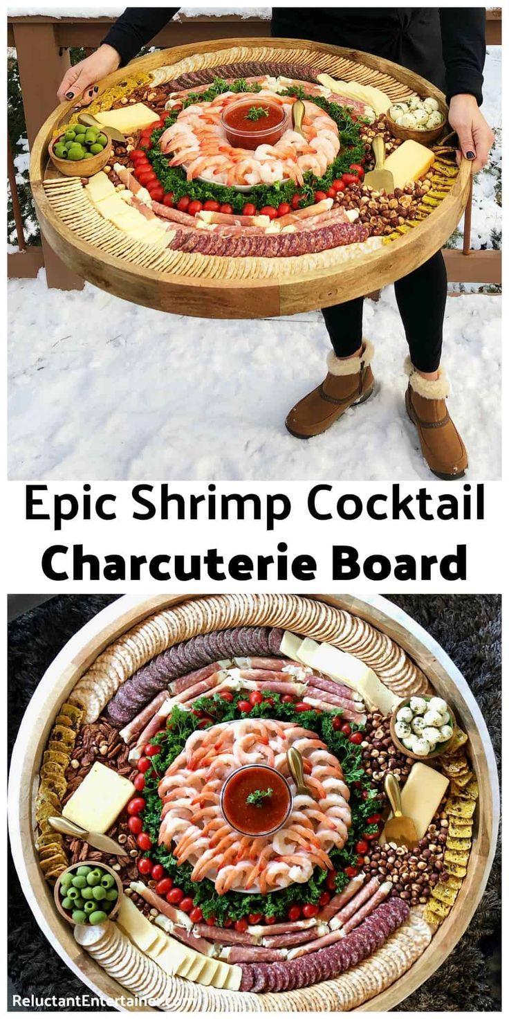 Epic Shrimp Cocktail Charcuterie Board - Reluctant Entertainer