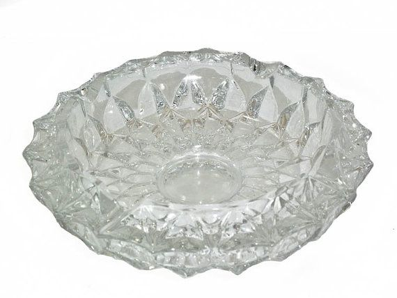 Vintage Glass Ash Tray Flower Shape 4 x 2