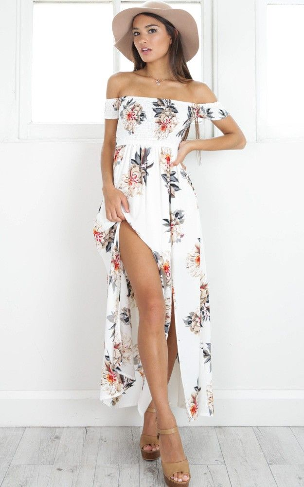 fcd388591b906 Daytime Dancer Maxi Dress In Cream Floral in 2019 | Summer Dresses ...