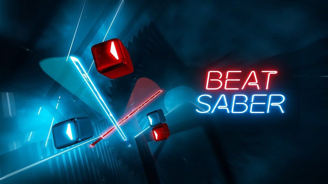 Playing Beat Saber With The Valve Index Controllers Pimax 5k Plus Mo Vr Games Virtual Reality Rhythm Games