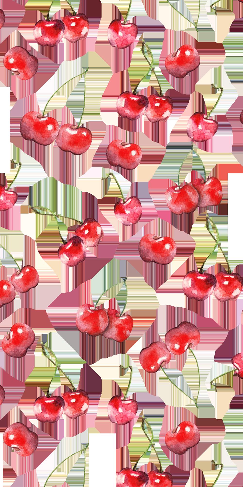 Cherry Pattern Casetify Iphone Art Design Illustration Fruit Fruit Wallpaper Watercolor Fruit Iphone Background