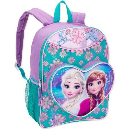 2b20a3615f9 Disney Frozen Anna and Elsa Full Size 16 Inch Kids Backpack