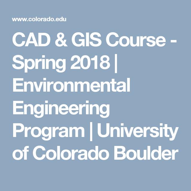 CAD & GIS Course - Spring 2018 | Environmental Engineering Program ...