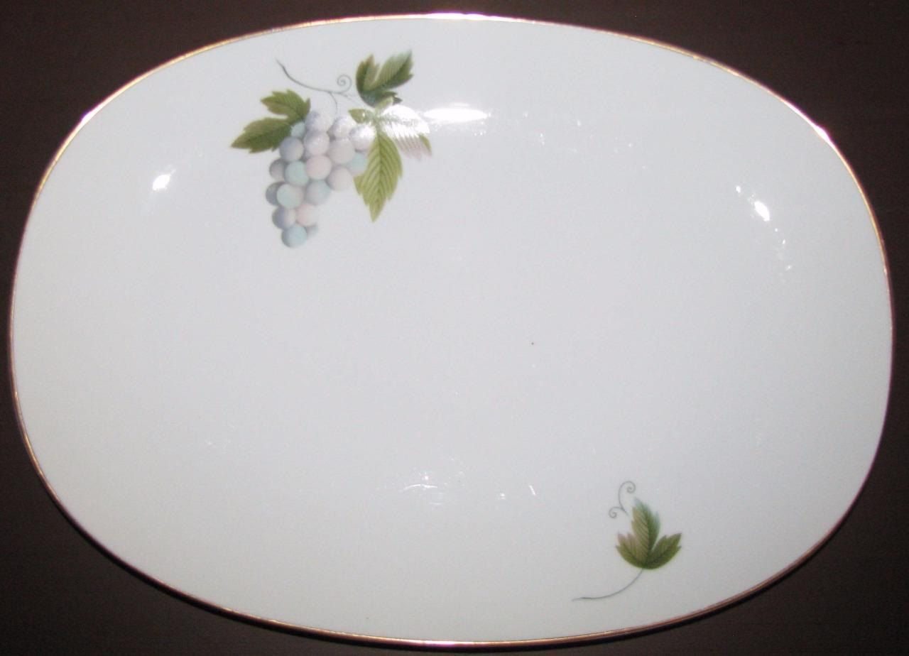 Noritake MARCELLE 619 Large Oval Serving Platter 15 inches RC Backstamp Dinnerware Excellent Condition by libertyhallgirl on Etsy