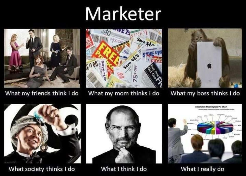 Marketer: What I do vs. what people think I do