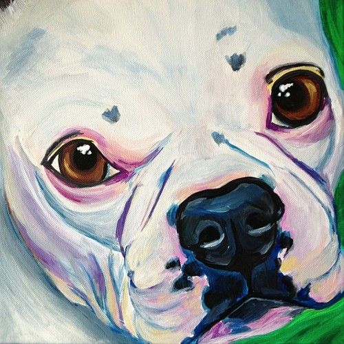 #frenchbulldog pet portrait painting dog art http://www.melissasmithart.com