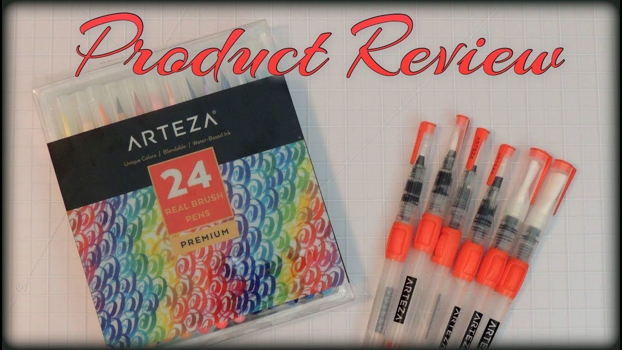 Product Review Arteza Watercolor Real Brush Pens Visit