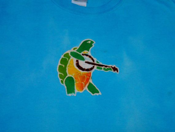 Grateful Dead Terrapin Station Dancing Turtle Batik Medium Shirt #464