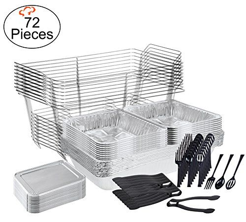 Tigerchef 0026 Caterset Catering Set Serving Dishes For Parties Includes Chafer Pans Set Disposable Serving Utensils Serving Utensils Plastic Serving Utensils