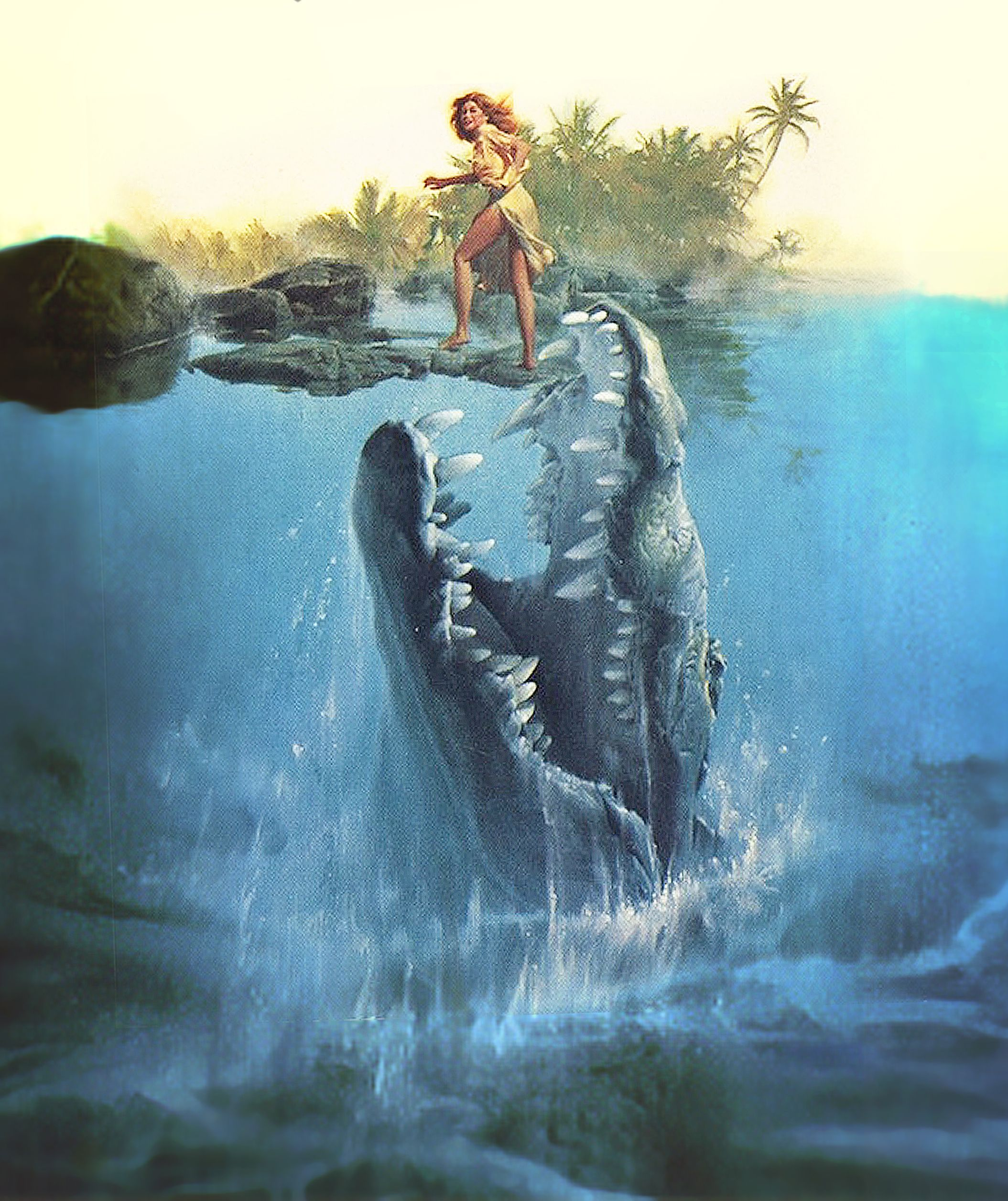 Jaws Book Cover Art : Creatures cover art by roger kastel artist behind jaws