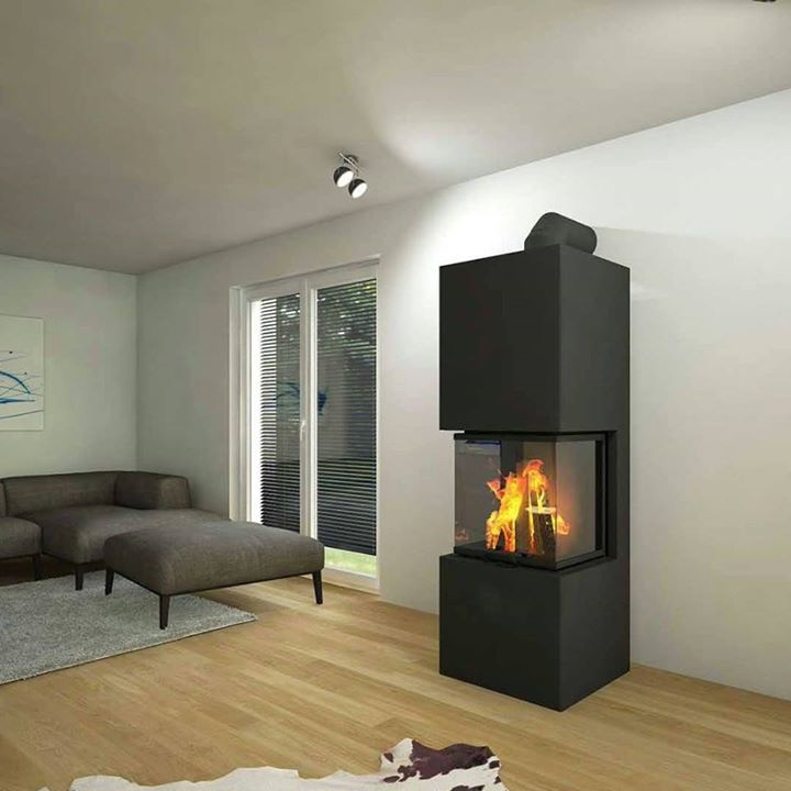 grotherm ofenkamin dreiseitig t r hochschiebbar kamin in. Black Bedroom Furniture Sets. Home Design Ideas