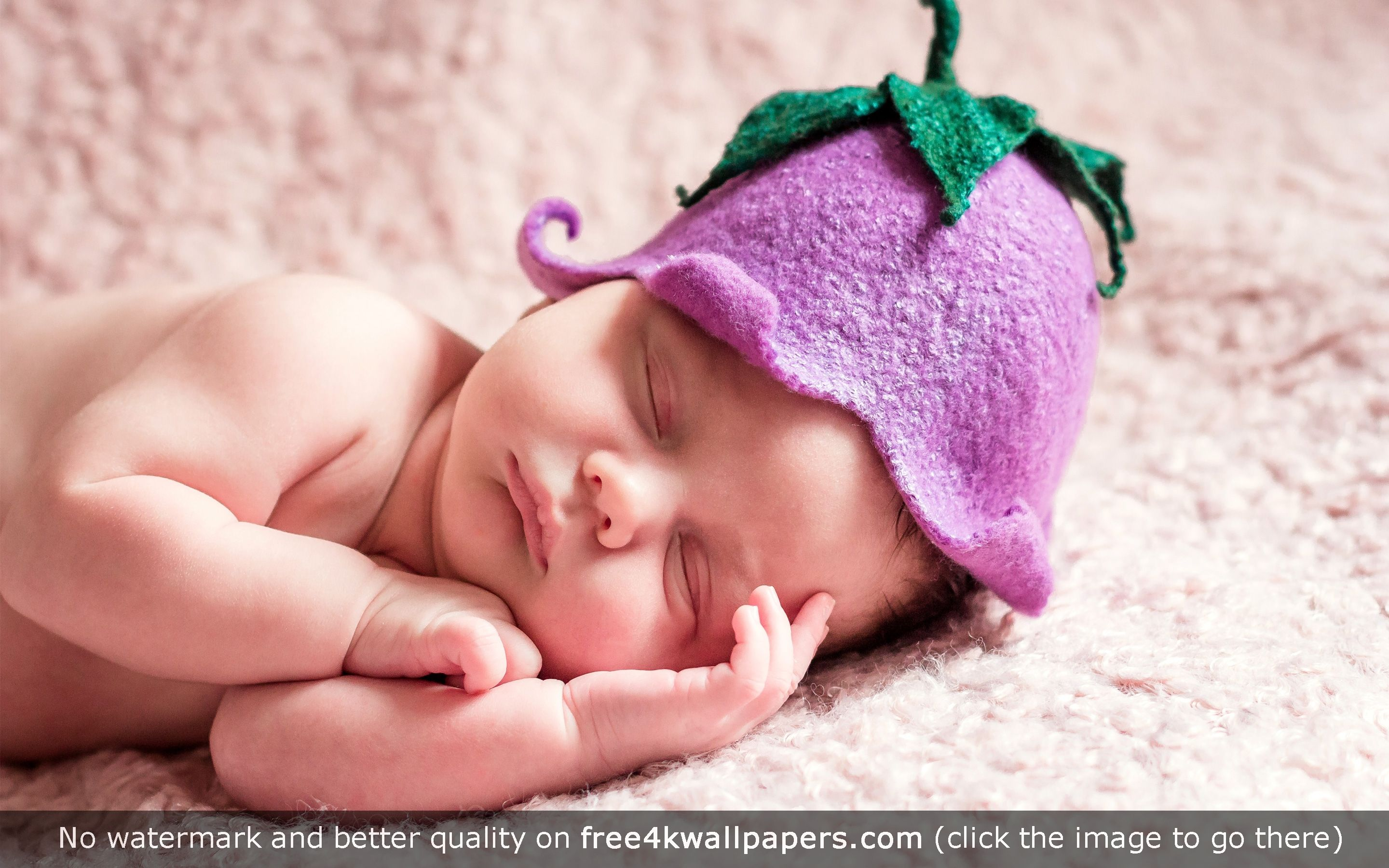 Cute sleeping newborn baby hd wallpaper