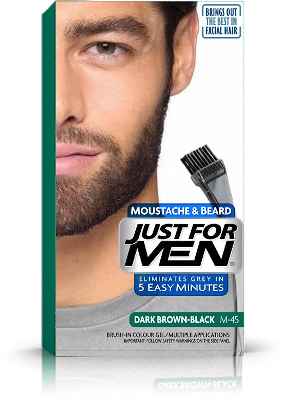 Just for men mustache and beard brushin color gel dark brown pack