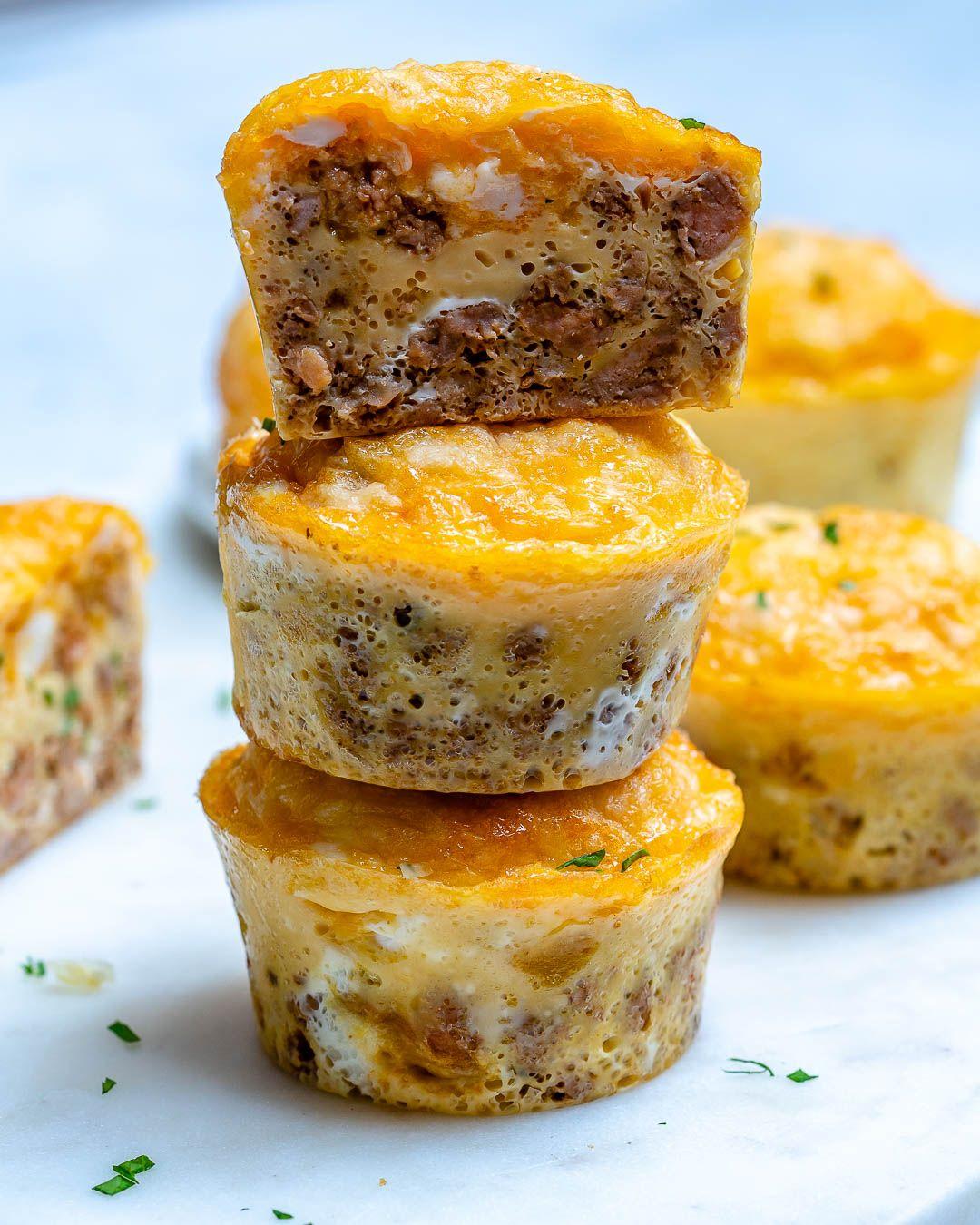 Chipotle Sausage Egg Muffins #porksausages