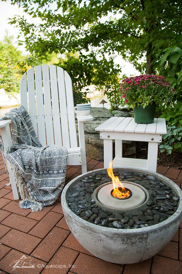 Fire Fountains, Water And Fire Fountain, Fire Water Feature Balkon