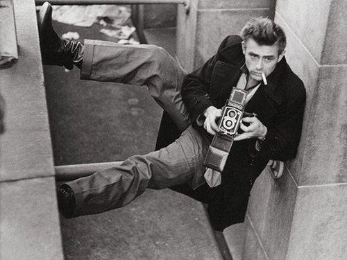 James Dean and a Rollei