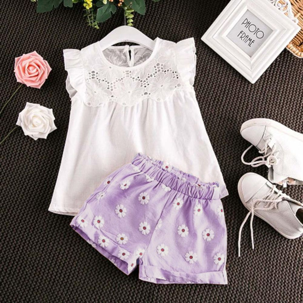 d0d60446a 8.94AUD - Toddler Kids Baby Girls Outfits Clothes T-Shirt Vest Tops ...