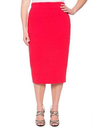 Textured Knit Column Skirt from eloquii.com