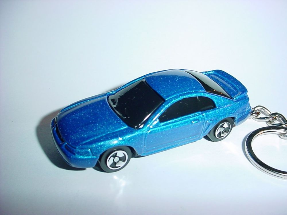 New 3d 1999 Ford Mustang Gt Custom Keychain Keyring Key Blue