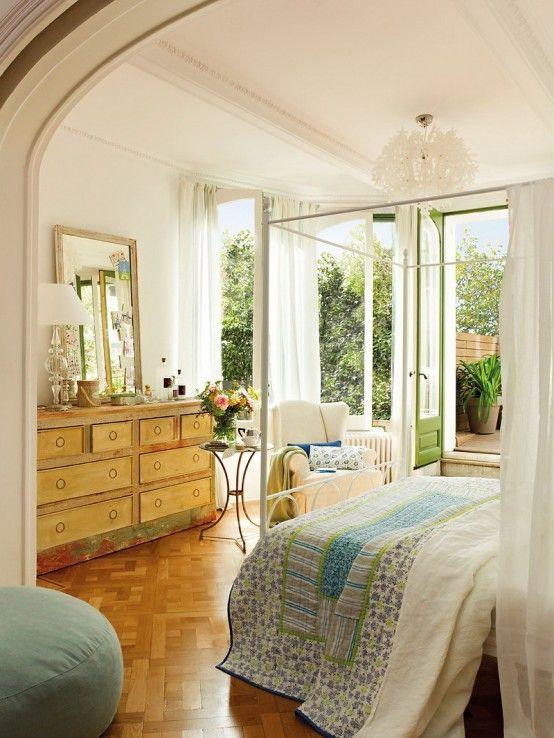 Romantic Bedroom Design With Semicircular Windows | DigsDigs · Romantisches  Schlafzimmer DesignRomantische SchlafzimmerGemütliches ...