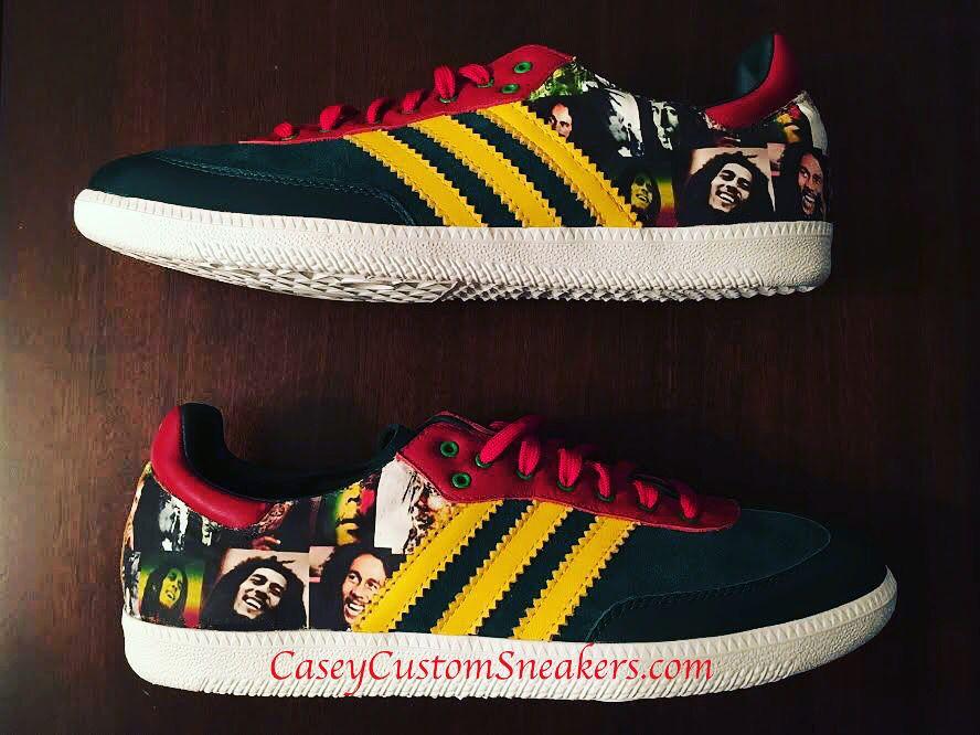 Bob Marley custom Adidas sneakers
