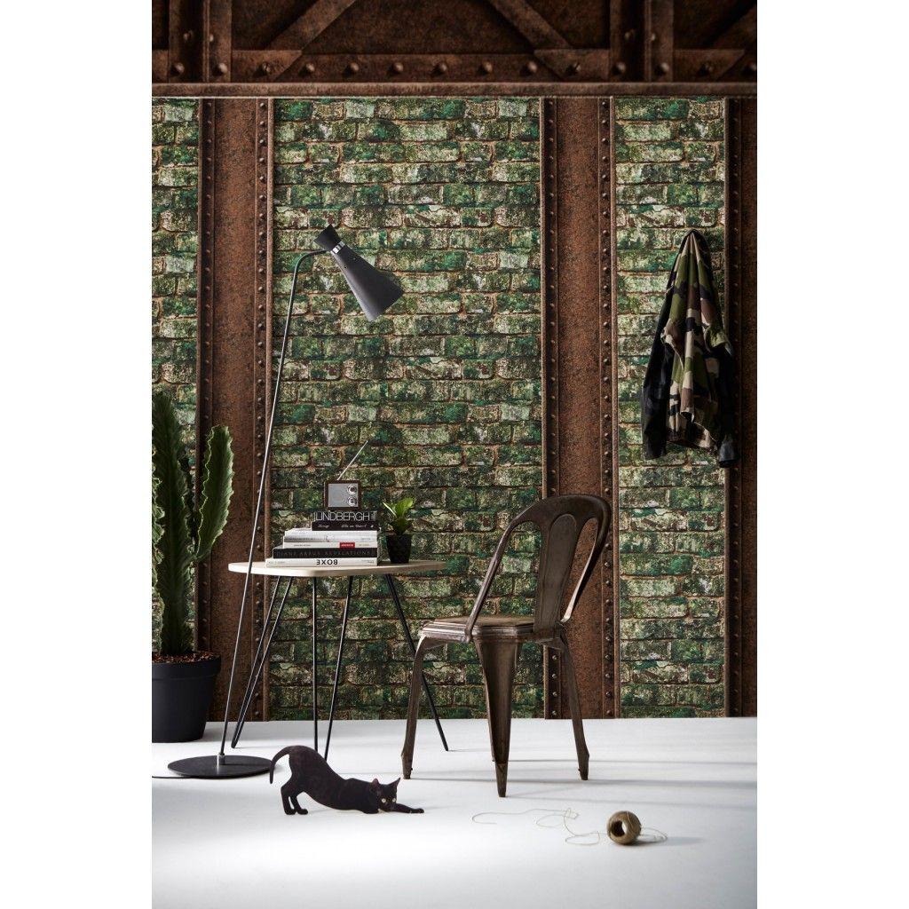 papier peint briques anciennes v g talis es et pour mon appart pinterest. Black Bedroom Furniture Sets. Home Design Ideas