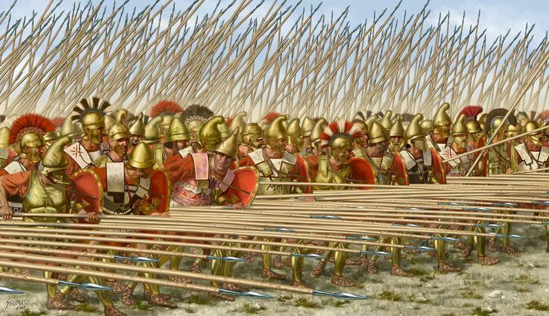 The Macedonian Phalanx For All Its Crudeness The Phalanx Of