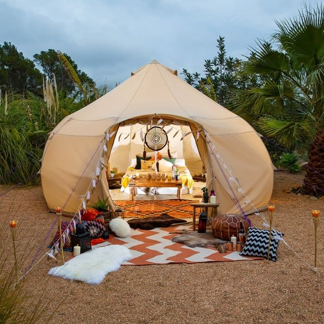 Red Bell Tent Canopy | Boutique Camping