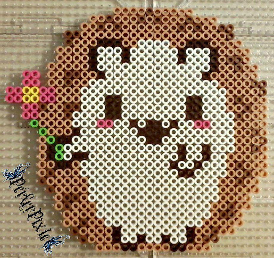 Hedgehog perler beads by PerlerPixie on DeviantArt