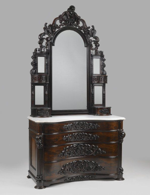 Brooklyn museum decorative arts dresser with mirror - Antike schlafzimmermobel ...