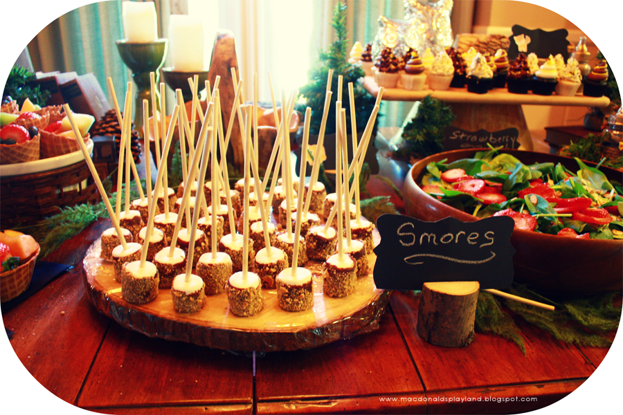 Forest Themed Baby Shower For Baby Boy: Chocolate Covered Marshmallows,  Smores On A Stick Www.macdonaldsplayland.blogspot.com