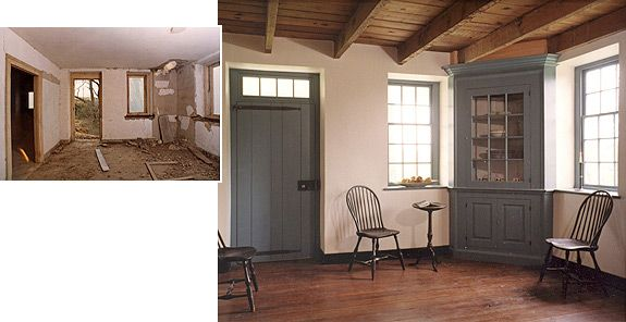 1785 Stone Farm House Restoration Parlor Chester County PA