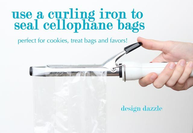 Use a Curling Iron to Heat Seal Cellophane Bags