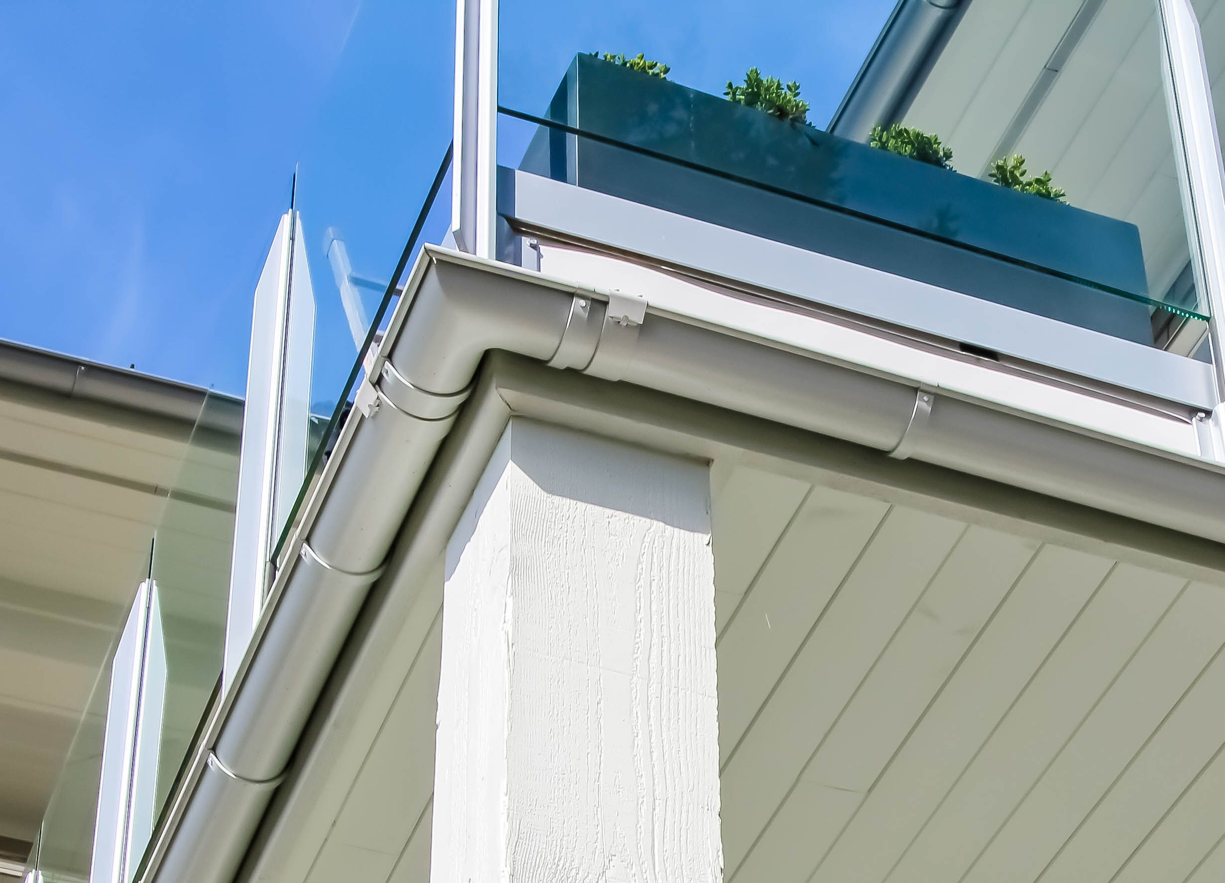 Ideally It Helps To Have Your Gutters Blend In Subtly Seamlessly With Your Home S Siding In Most Cases It May Be B Gutters Gutter Accessories Rain Gutters