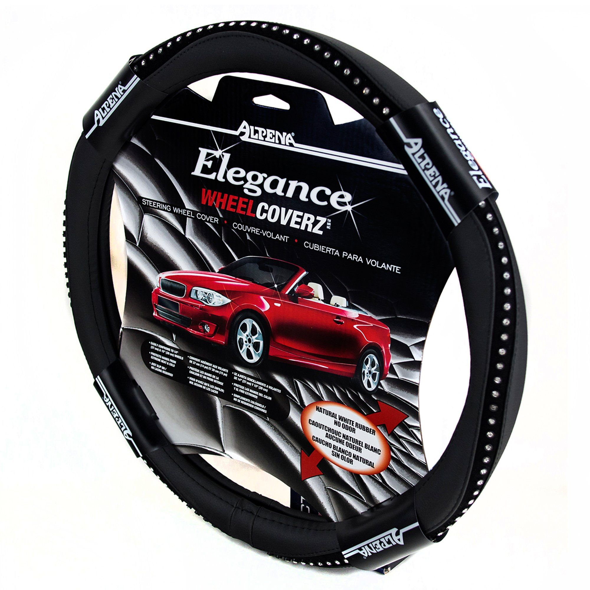 Alpena 10403 Black Bling Steering Wheel Cover