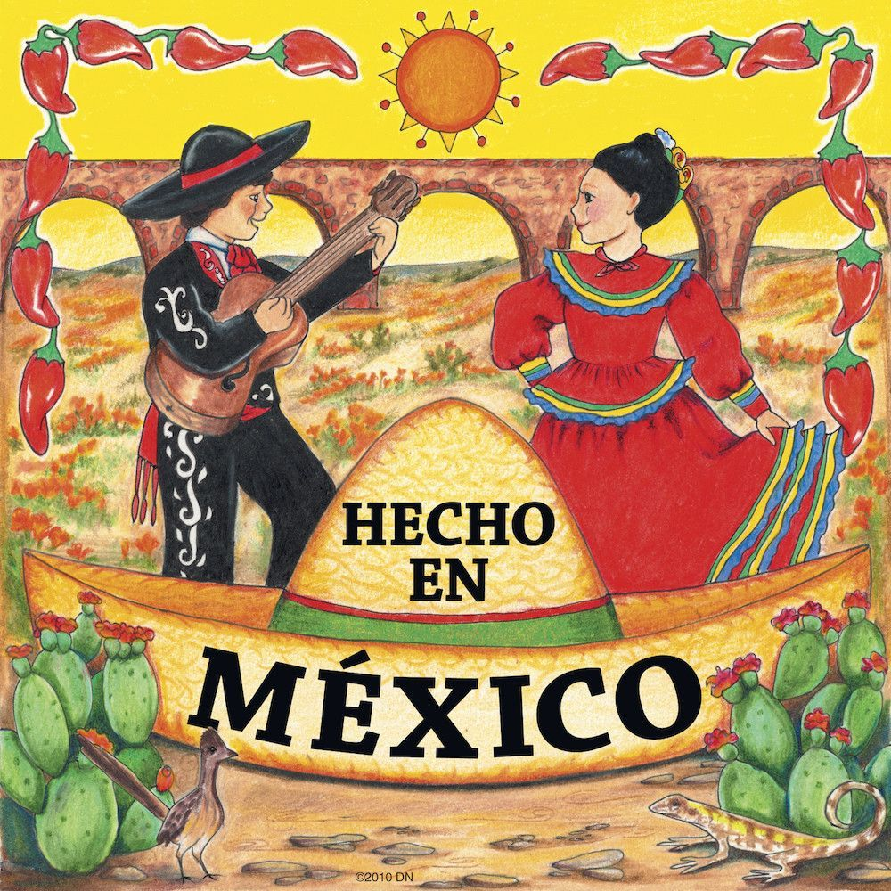 Heritage Mexican Gift: Hecho En Mexico Kitchen Magnet | Mexicans ...