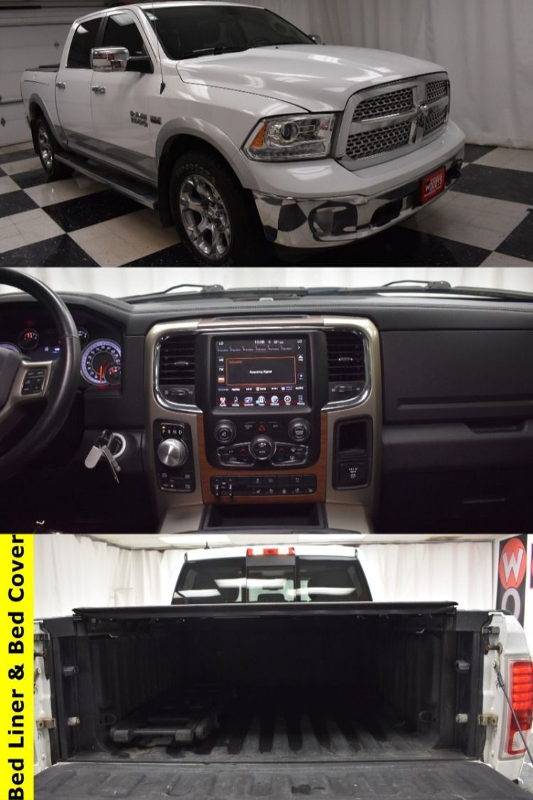 Tough & Durable! This RAM 1500 Crew Cab Laramie is
