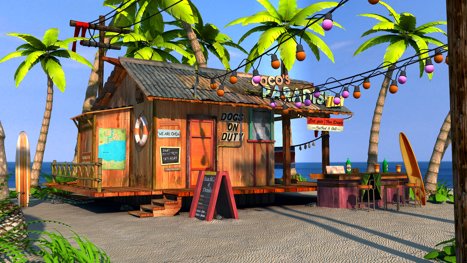 3D-Beach-Bar-Shore-Scene-View1 | Beach Bars - Everywhere Else ...