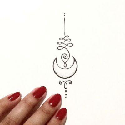Photo of Unalome Tattoo Moon | tatouage |