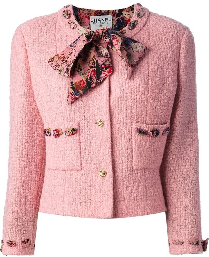 Chanel boucle jacket and skirt suit on shopstyle.com | Running