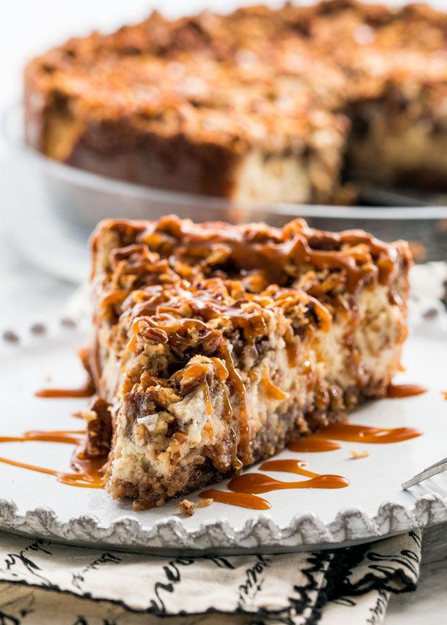 Pecan Pie Cheesecake #pecanpiecheesecakerecipe