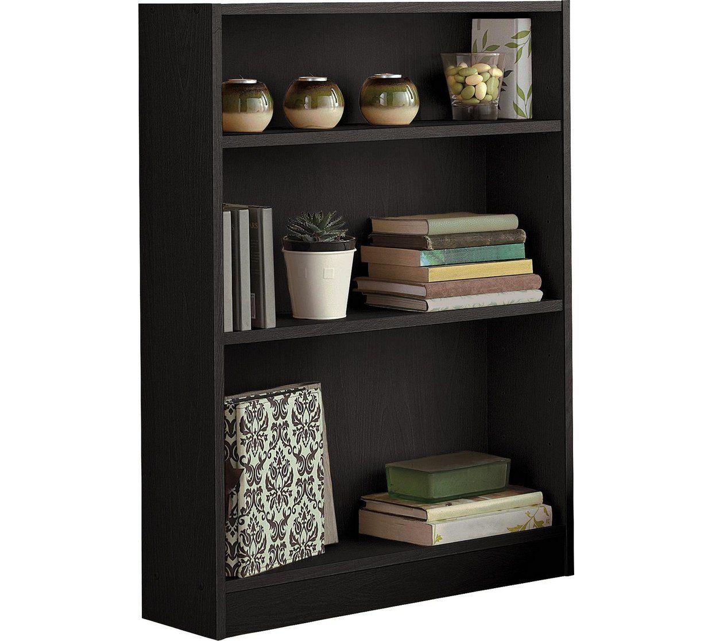Home 2 Shelf Small Bookcase - Black