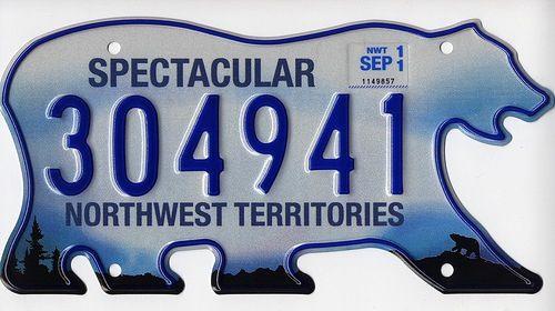 Canadas Licence Plates Northwest Territories Canada 1