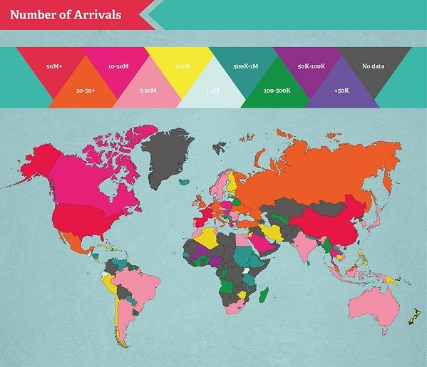 infographic the most visited countries in the world designtaxicom