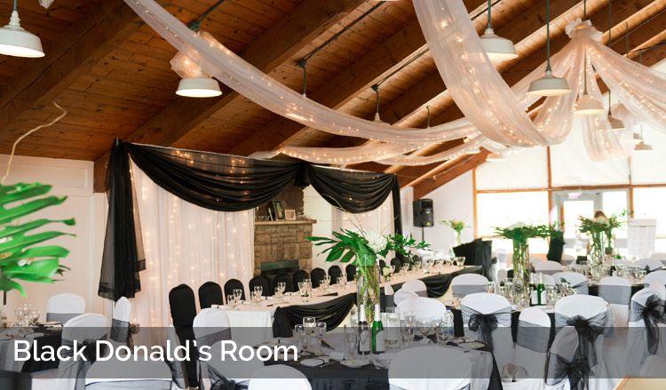Black Donald's Room Indoor Reception Venues at Calabogie