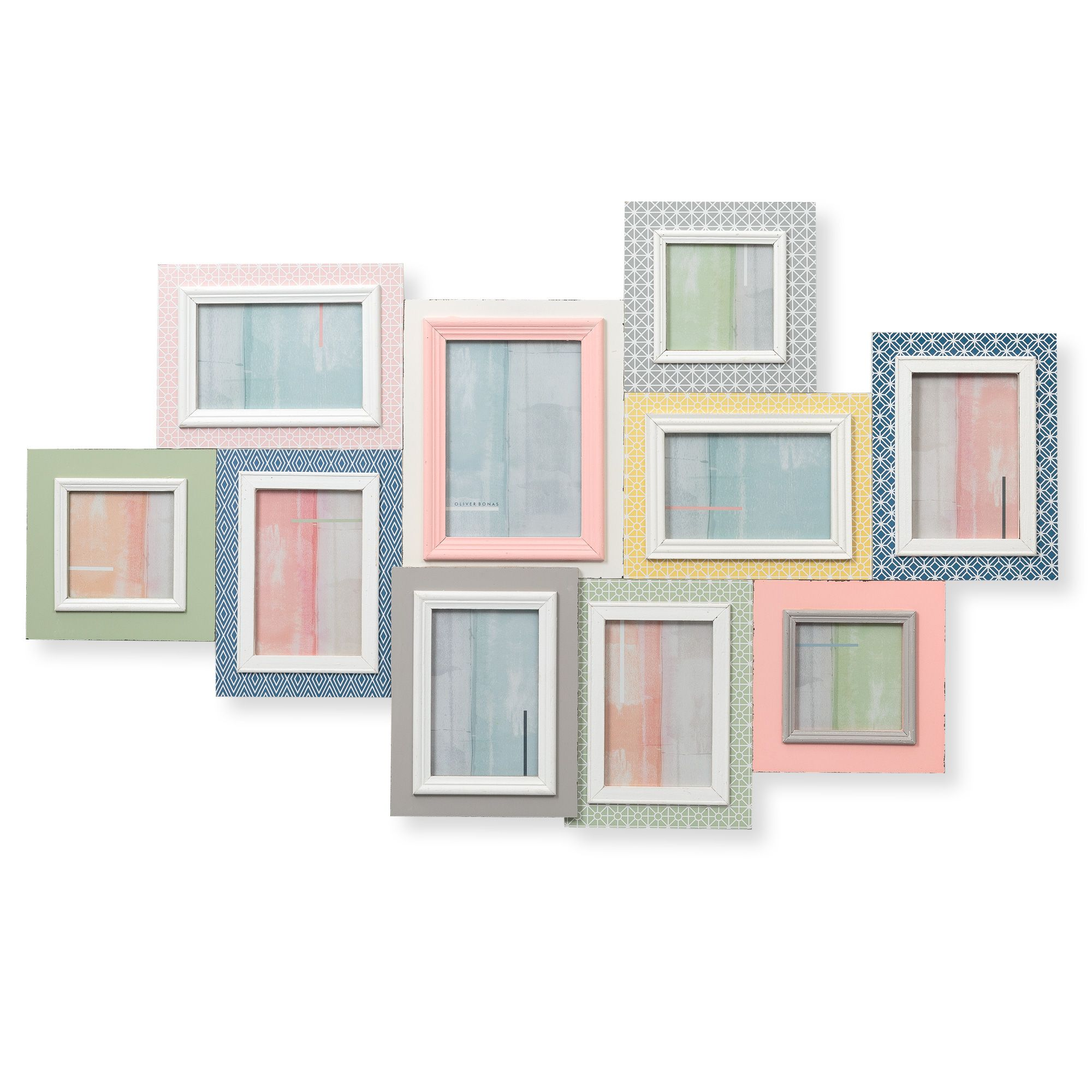 buy the multi ten geo brights frame at oliver bonas enjoy free uk standard delivery - Multi Photo Frame