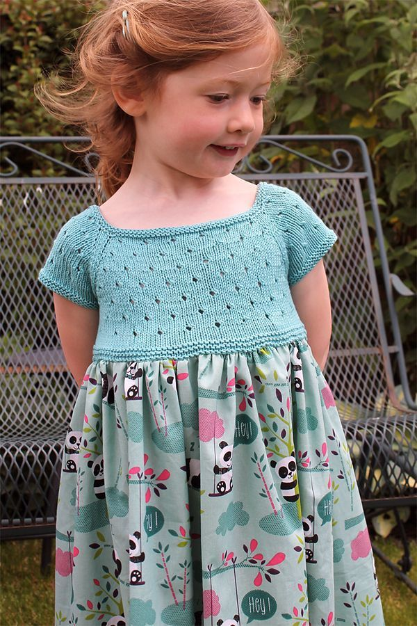 Photo of Free Pattern for Knit and Sew Eyelet Dress