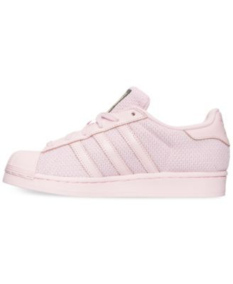 outlet store cb305 9f30d adidas Big Girls  Superstar Casual Sneakers from Finish Line - Pink 6.5